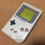 ゲームボーイ 初代(旧タイプ)本体 電池を含むと重かったが、new3DSLLよりは軽い?!